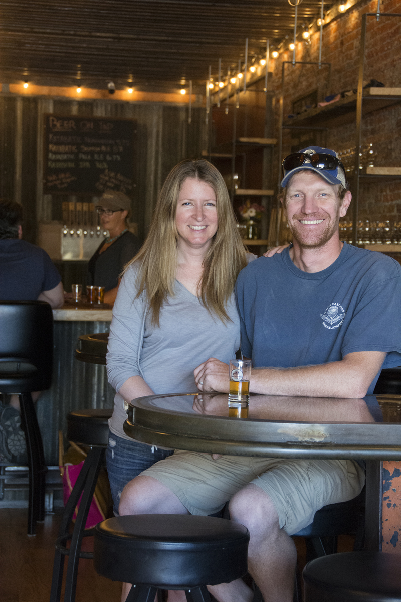 Katabatic Brewery owners, Brice & LaNette Jones