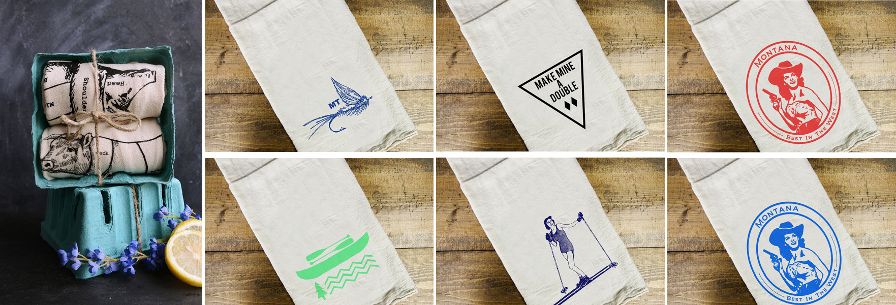 Dishtowels Collage